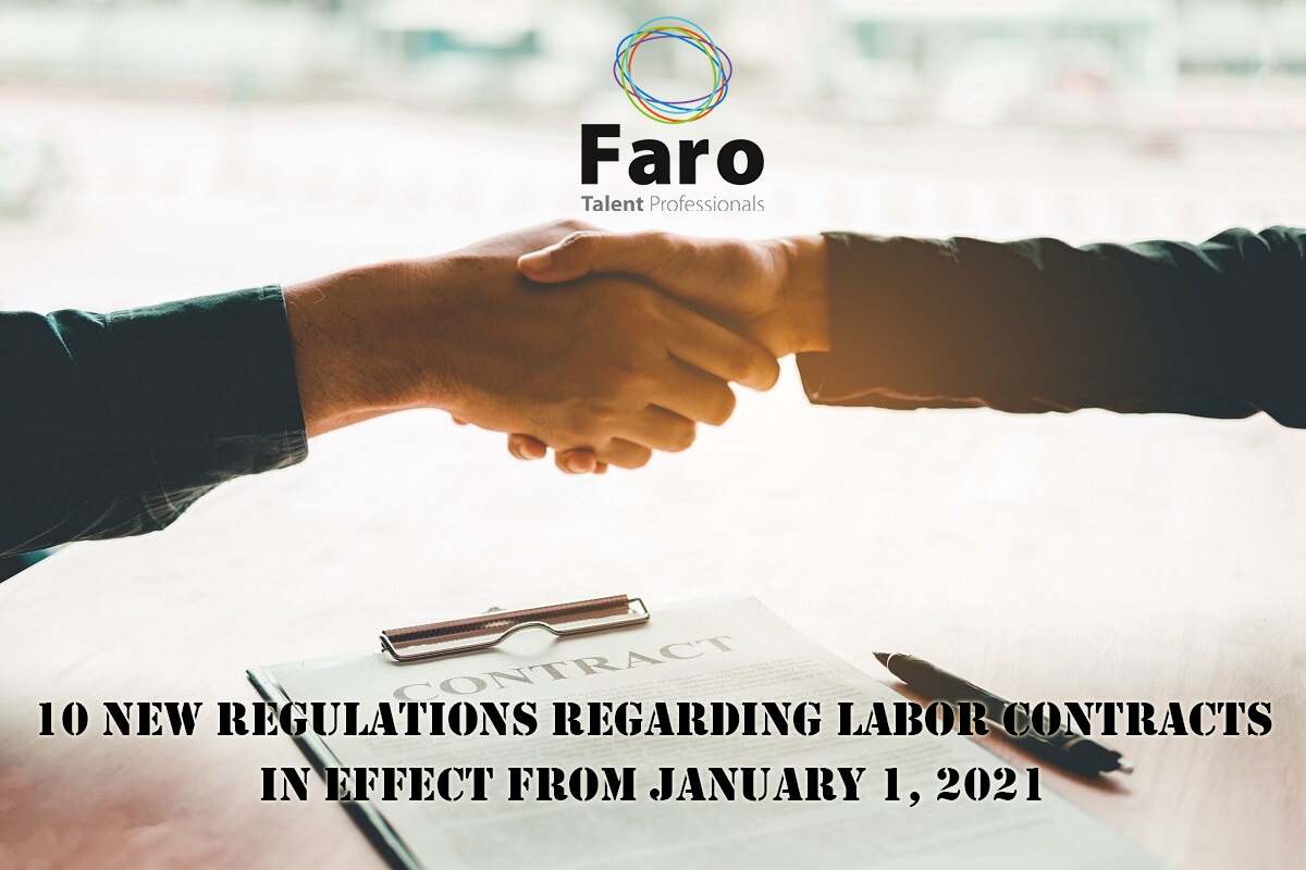 10 new regulations regarding labor contracts in effect from January 1, 2021 (Part 1)